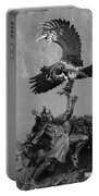 The Eagle And The Indian In Black And White Portable Battery Charger