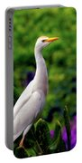 The Egret Outside My Window Portable Battery Charger