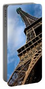 The Eiffel Tower From Below Portable Battery Charger by Nila Newsom