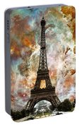 The Eiffel Tower - Paris France Art By Sharon Cummings Portable Battery Charger