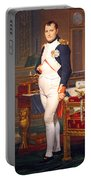 The Emperor Napoleon In His Study At The Tuileries By Jacques Louis David Portable Battery Charger