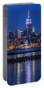 The Empire State Building Pastels Esb Portable Battery Charger