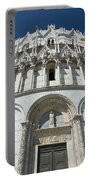The Entrance To The Baptistery In Pisa  Portable Battery Charger