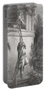 The Escape Of David Through The Window Portable Battery Charger by Gustave Dore