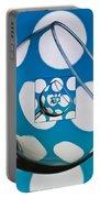 The Eternal Glass Light Blue Portable Battery Charger