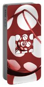 The Eternal Glass Red Portable Battery Charger