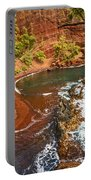 The Exotic And Stunning Red Sand Beach On Maui Portable Battery Charger