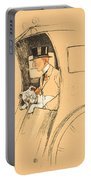 The Extra Passenger Portable Battery Charger by Cecil Charles Windsor Aldin