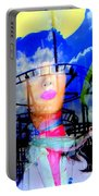 The Eyes Of Miss Coney Island Portable Battery Charger