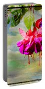 The Face Of Fuchsia Portable Battery Charger