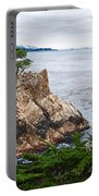 The Famous Lone Cypress Tree At Pebble Beach In Monterey California Portable Battery Charger