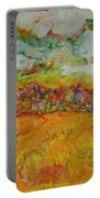 The Farmland Oil On Canvas Portable Battery Charger