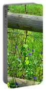 The Fence At The Meadow Portable Battery Charger