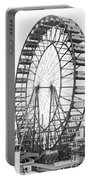 The Ferris Wheel At The Worlds Columbian Exposition Of 1893 In Chicago Bw Photo Portable Battery Charger