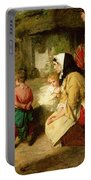 The First Break In The Family Portable Battery Charger by Thomas Faed