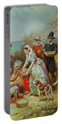 The First Thanksgiving Portable Battery Charger by Jean Leon Gerome Ferris