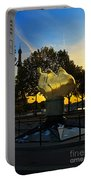 The Flame Of Liberty In Paris Portable Battery Charger