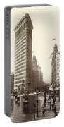 The Flatiron Building In Ny Portable Battery Charger