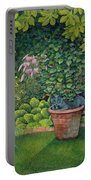 The Flower Pot Cat Portable Battery Charger by Ditz