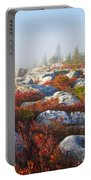 The Fog Clears At Dolly Sods Portable Battery Charger