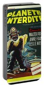 The Forbidden Planet Vintage Movie Poster Portable Battery Charger