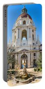 The Fountain - The Beautiful Pasadena City Hall. Portable Battery Charger