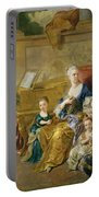 The Franqueville Family, 1711 Oil On Canvas Portable Battery Charger