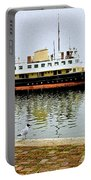 The Friesland In Enkhuizen Harbor-netherlands Portable Battery Charger