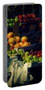 The Fruit Seller - New York City Street Scene Portable Battery Charger