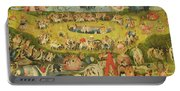 The Garden Of Earthly Delights Allegory Of Luxury, Central Panel Of Triptych, C.1500 Oil On Panel Portable Battery Charger