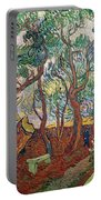 The Garden Of St Pauls Hospital At St. Remy Portable Battery Charger by Vincent Van Gogh