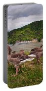 The Geese Of St Goar Am Rhein Portable Battery Charger