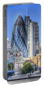 The Gherkin And Tower Bridge Portable Battery Charger