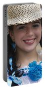 The Girl With The Panama Hat Portable Battery Charger