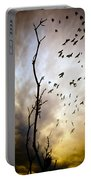 The Gods Laugh When The Winter Crows Fly Portable Battery Charger by Bob Orsillo