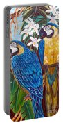 The Golden Macaw Portable Battery Charger