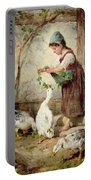The Goose Girl Portable Battery Charger by Antonio Montemezzano