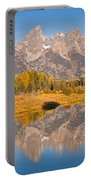 The Grand Tetons At Schwabacher Landing Grand Teton National Park Portable Battery Charger
