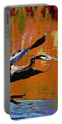 The Great Blue Heron Jumps To Flight Portable Battery Charger
