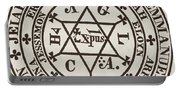 The Great Magic Circle Of Agrippa For The Evocation Of Demons Portable Battery Charger