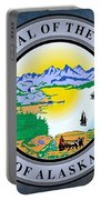 The Great Seal Of The State Of Alaska  Portable Battery Charger