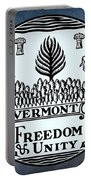 The Great Seal Of The State Of Vermont Portable Battery Charger