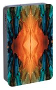 The Great Spirit - Abstract Art By Sharon Cummings Portable Battery Charger
