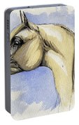 The Grey Arabian Horse 12 Portable Battery Charger