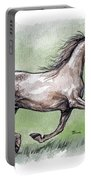 The Grey Arabian Horse 8 Portable Battery Charger