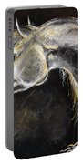 The Grey Arabian Horse 9 Portable Battery Charger