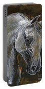 The Grey Arabian Horse Oil Painting Portable Battery Charger