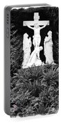 The Grotto - Calvary Scene With Border Portable Battery Charger