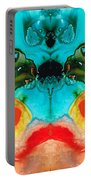 The Guardians - Visionary Art By Sharon Cummings Portable Battery Charger by Sharon Cummings