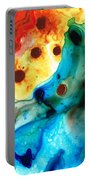 The Heart's Desire - Colorful Abstract By Sharon Cummings Portable Battery Charger by Sharon Cummings
